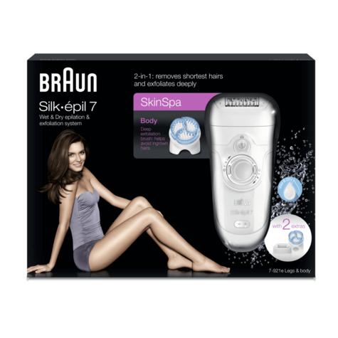 Braun Silk-épil | 7 SkinSpa Epilator & Exfoliation System-2 in 1 | Wet & Dry | SE7921 Thumbnail 3