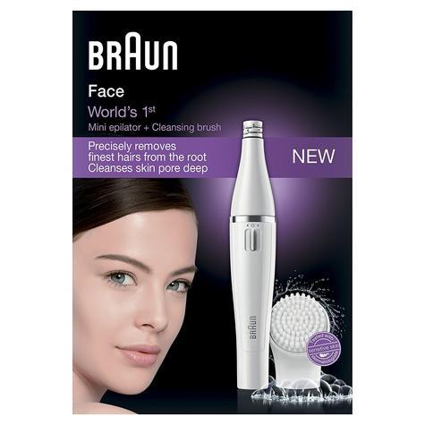 Braun Mini Facial Epilator+Cleansing Brush | Waterproof Electric Hair Removal | 810 Thumbnail 3