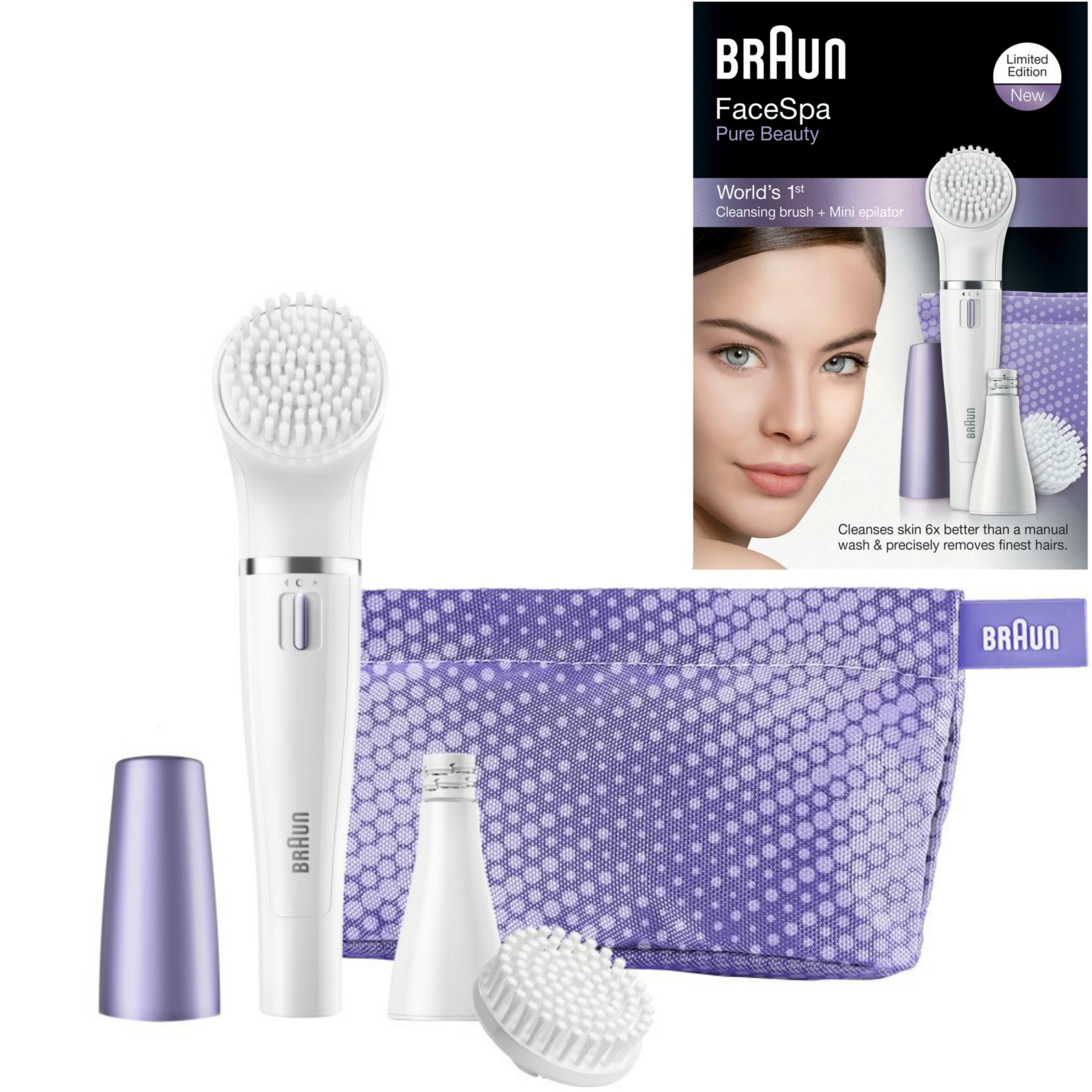 Braun FaceSpa Mini Facial Epilator & Cleansing Brush | Removes Finest Hair | SE832