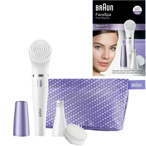 Braun FaceSpa Mini Facial Epilator & Cleansing Brush | Removes Finest Hair | SE832 Thumbnail 1