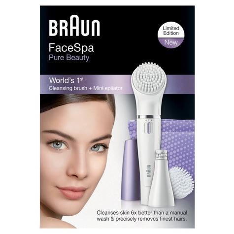 Braun FaceSpa Mini Facial Epilator & Cleansing Brush | Removes Finest Hair | SE832 Thumbnail 4