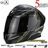 Scorpion Exo 920 Satellite Flip-Front Motorcycle Helmet|ECE 22-05|Unisex|Black/Yellow