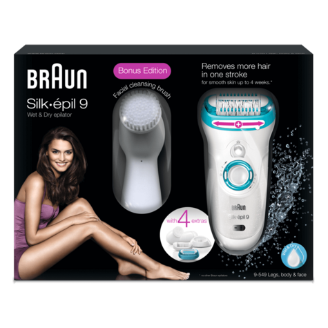Braun Silk Epil 9 Cordless Epilator & Facial Cleansing Brush|Hair Removal System Thumbnail 4