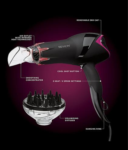 Revlon Pro Collection Salon Infrared Hair Dryer | Volumizing Diffuser | 2000W | DR5105 Thumbnail 5