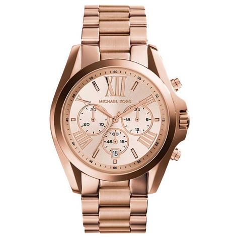 Michael Kors Bradshaw Ladies Watch|Chronograph Dial|Rose Gold Bracelet|MK5503 Thumbnail 1