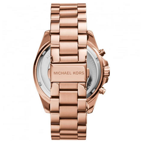 Michael Kors Bradshaw Ladies Watch|Chronograph Dial|Rose Gold Bracelet|MK5503 Thumbnail 3