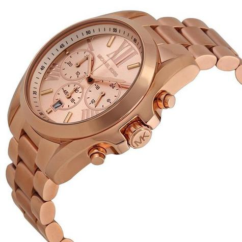 Michael Kors Ladies Bradshaw Rose Gold Tone Chronograph Bracelet Watch MK5503 Thumbnail 3