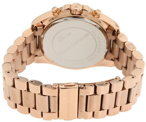 Michael Kors Ladies Bradshaw Rose Gold Tone Chronograph Bracelet Watch MK5503 Thumbnail 4