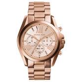 Michael Kors Bradshaw Ladies Watch|Chronograph Dial|Rose Gold Bracelet|MK5503