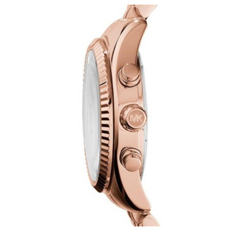 Michael Kors Lexington Ladies Watch|Chrono Dial|Rose Gold Designer Strap|MK5569 Thumbnail 2