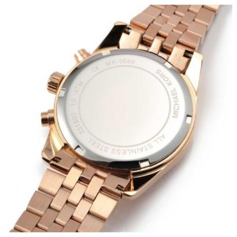 Michael Kors Lexington Ladies Watch|Chrono Dial|Rose Gold Designer Strap|MK5569 Thumbnail 3