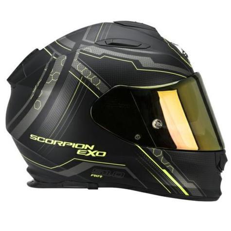 Scorpion Exo 510 Black & Yellow Bike Helmet Full Face Air Sync TUV Tested Unisex Thumbnail 3
