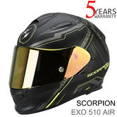 Scorpion Exo 510 Black & Yellow Bike Helmet|Full Face|Air Sync|TUV Tested|Unisex