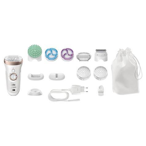 Braun Silk-Epil 9 Skin Spa|Epilation-Exfoliation-Massage-Shaver|4 in 1|Multi Use Thumbnail 2