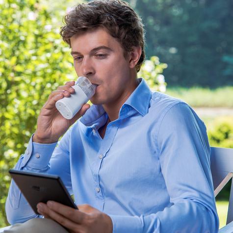 Omron MicroAIR Pocket 360° Nebulizer | Silent Medicine Inhaler | 10ml Medication | U100 Thumbnail 4