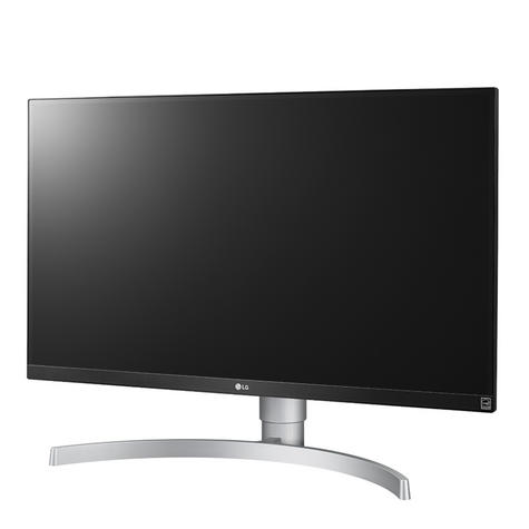 "LG 27UK650-W 27"" Ultra HD 4K Adjustable IPS Computer Monitor Screen - White Thumbnail 3"