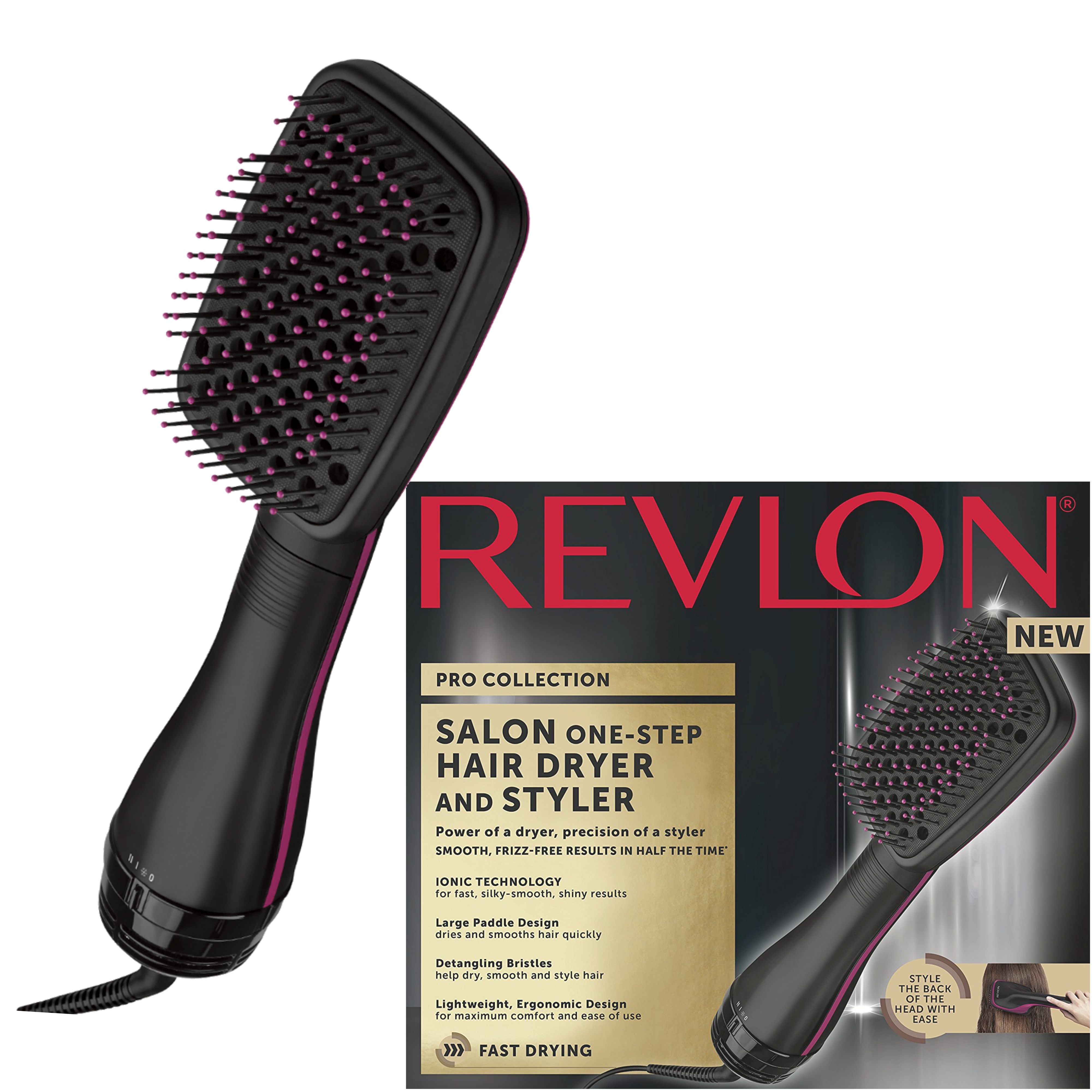 Revlon Pro Collection One Step Hair Dryer & Styler 2 in 1 | Ionic Technology | DR5212