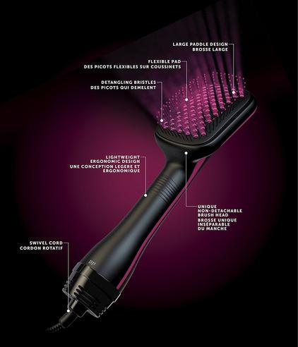 Revlon Pro Collection One Step Hair Dryer & Styler 2 in 1 | Ionic Technology | DR5212 Thumbnail 4