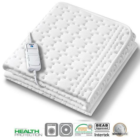 Monogram Allergy-Free Heated Single Mattress Cover (369.60) | HHL Technology | MONAS Thumbnail 1