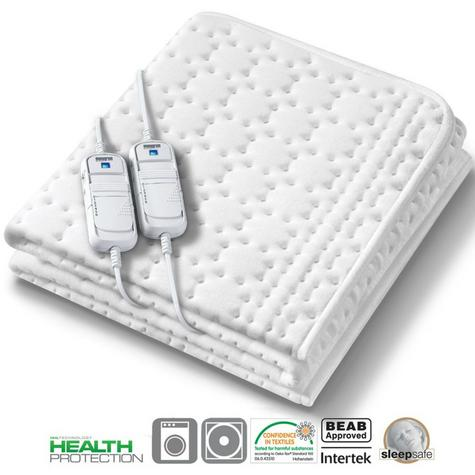 Monogram Allergy Free Heated Dual Mattress Cover (369.64) | Super King Size | MONASK Thumbnail 1