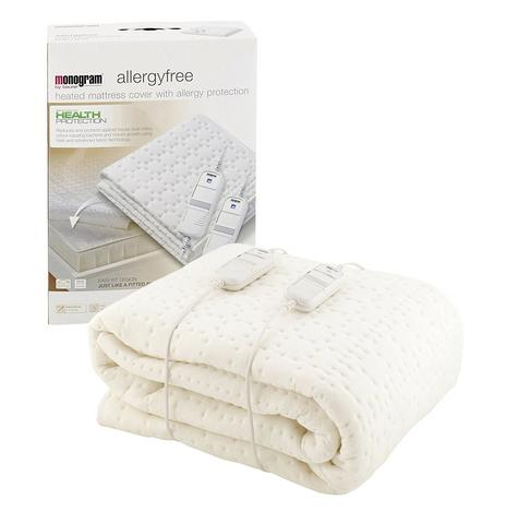Monogram Allergy Free Heated Dual Mattress Cover (369.64) | Super King Size | MONASK Thumbnail 2