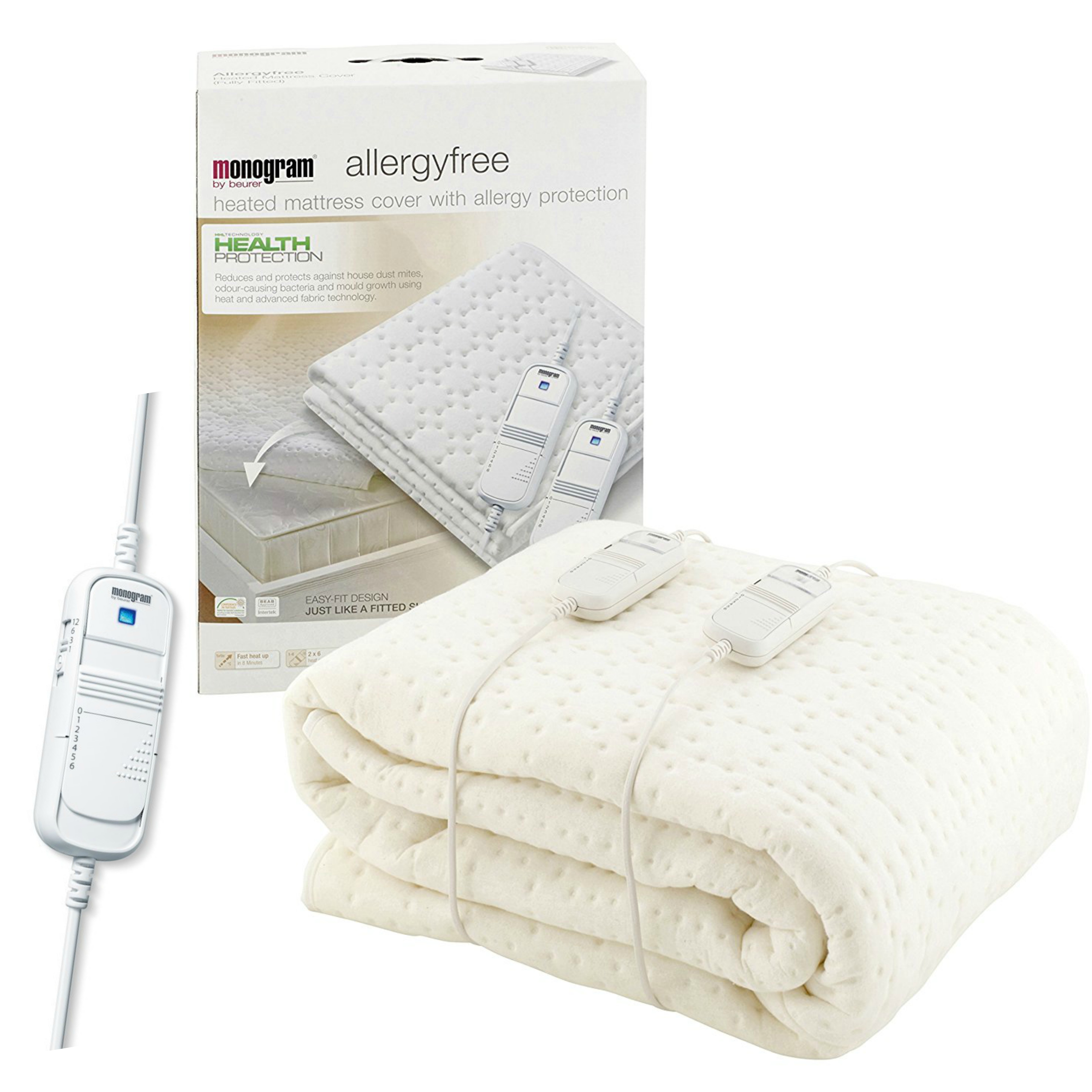 Monogram Allergy Friendly Heated King Size Dual Mattress Top Cover(369.63) | MONAK
