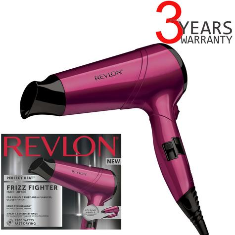 Revlon Perfect Heat Frizz Fighter Hair Dryer | Smooth Styler | 2200 Watt | Purple | DR5229 Thumbnail 1