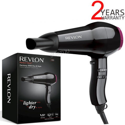 Revlon Perfect Heat Fast & Light Hair Dryer/Blower | Ionic Technology | 2000W | DR5823 Thumbnail 1