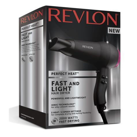 Revlon Perfect Heat Fast & Light Hair Dryer/Blower | Ionic Technology | 2000W | DR5823 Thumbnail 6