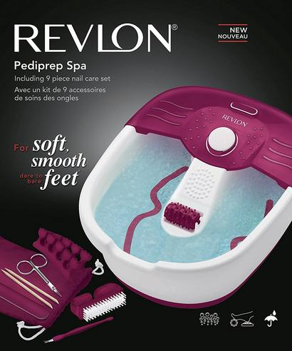 Revlon Pediprep Foot Spa | 9 Pieces Nail Care Pedicure Set | Bubbling Massage | FB7021 Thumbnail 8