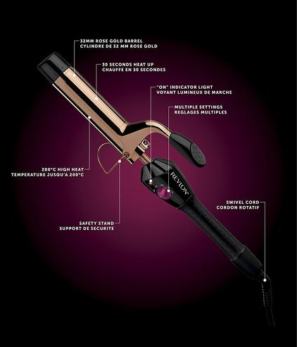 Revlon Pro Collection Curling Iron | Salon Curls & Waves Styler | 32mm Barrel | IR1159 Thumbnail 4