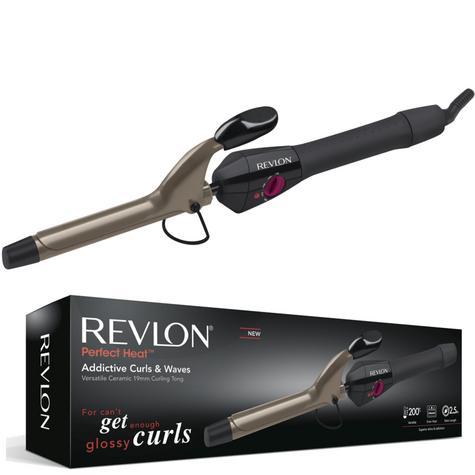 Revlon Perfect Heat Addictive Curls & Waves | 19mm Ceramic Curling Tong | 200°C | IR1409 Thumbnail 1