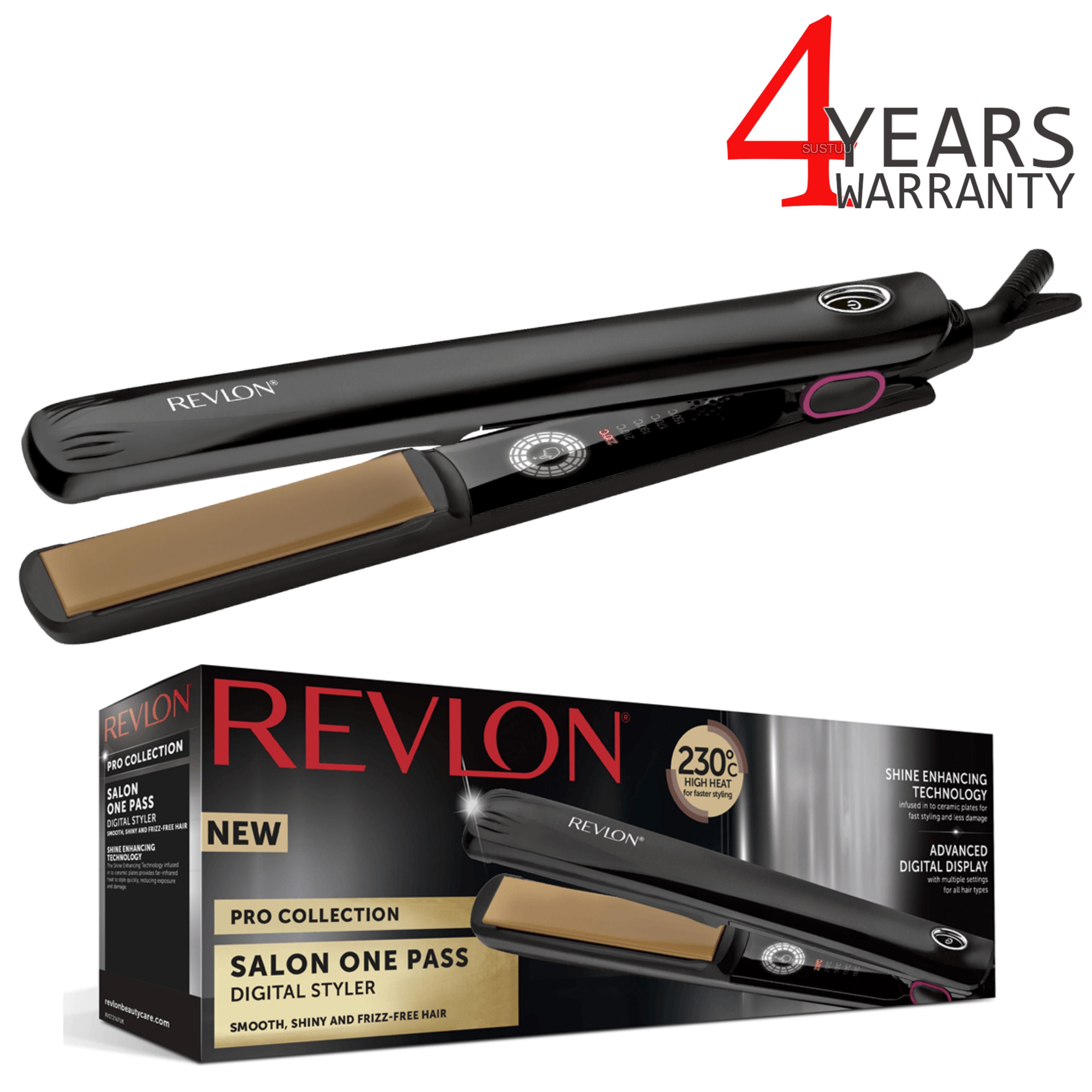 Revlon Pro Collection One Pass Hair Styler/Straightener | LCD Digital Display | ST2167