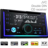 JVC Double Din Radio Receiver|Bluetooth/DAB/CD/MP3/USB/AUX/ iPod/Android Control