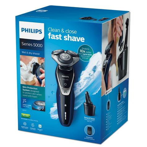 Philips Series S5572/10 Wet|Dry Mens Electric Shaver|Turbo Plus Mode|Smart Clean Thumbnail 2