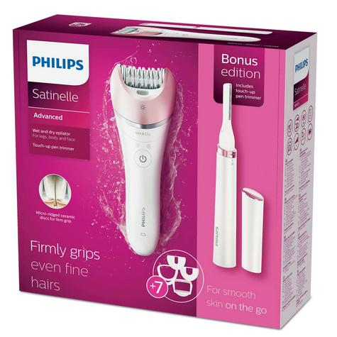 Philips BRP535 Satinelle Advanced Cordless Epilator|Wet & Dry Use|Rechargeable| Thumbnail 7