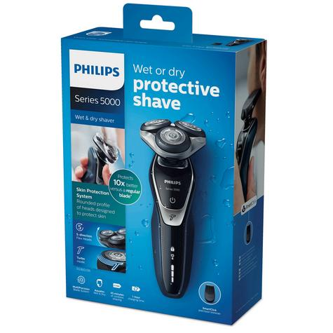 Philips S5360/06 5000 Wet Dry Men's Electric Shaver | Turbo Mode | Precision Trimmer Thumbnail 6