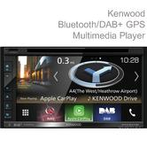 Kenwood 6.8''  Double Din Multimedia Player|GPS/Bluetooth/Apple CarPlay|DNX 5180DABS
