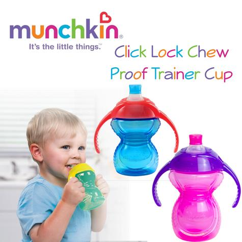 Munchkin Click Lock Chew Proof Trainer Cup|Baby Feeding|100% Leak Proof|227ml Capicity Thumbnail 1