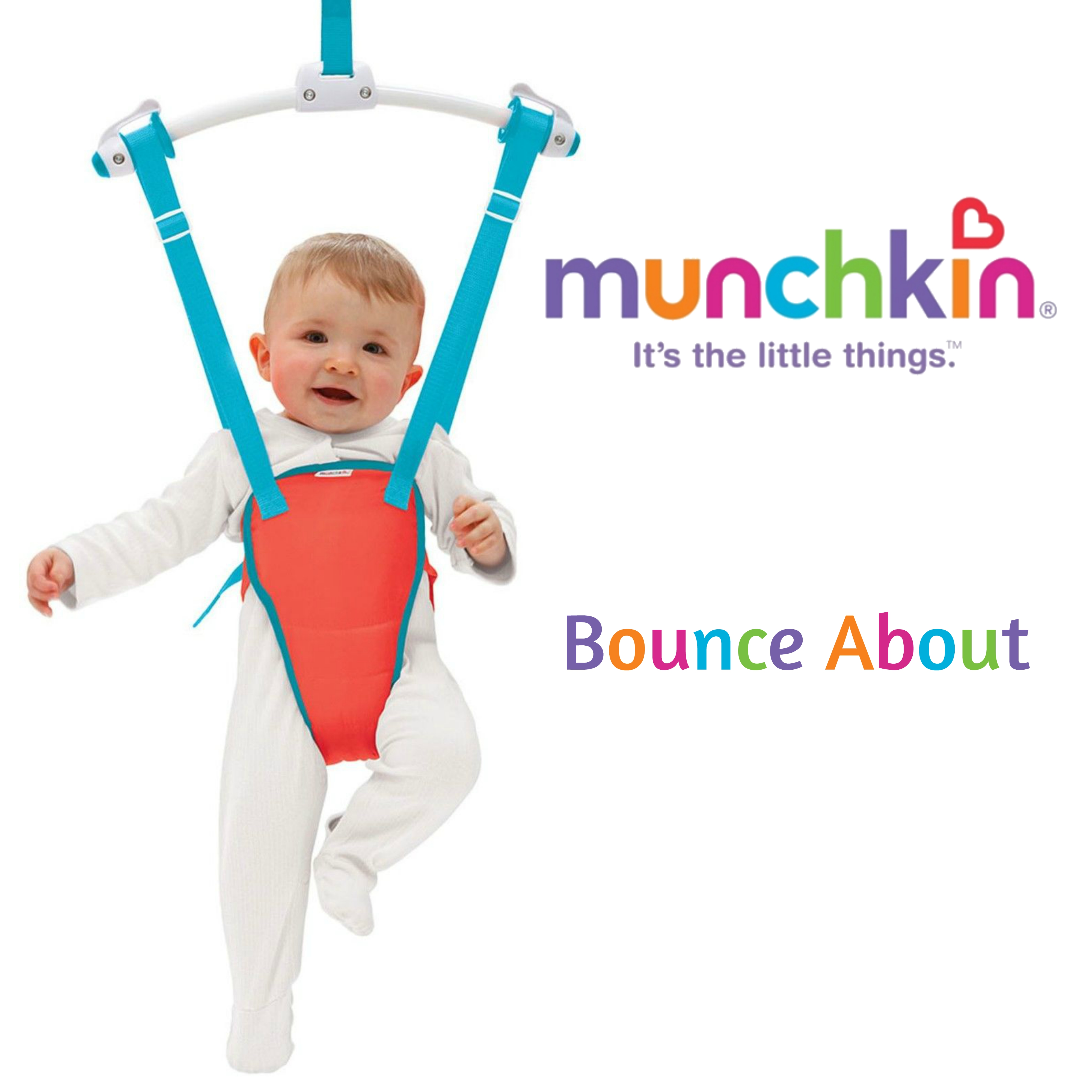 facca74aeb8 Munchkin Bounce About|Baby Door Bouncer Play Seat Jumping Fun|Adjustable  Padded