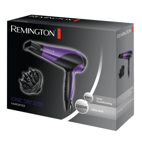 Remington Professional Hair Dryer | Diffuser Styler | Ionic Conditioning | 2200W | D3190 Thumbnail 5