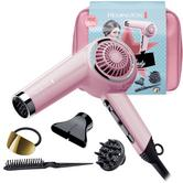 Remington Retro Hair Dryer Gift Pack | 2000W Styling Kit | Ceramic Grille | Pink Lady