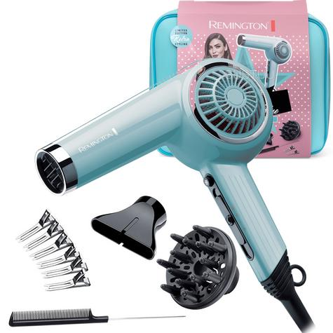 Remington Retro Look Hair Dryer Gift Set | Women's Styling Kit | 2000W | Ceramic Grille Thumbnail 1