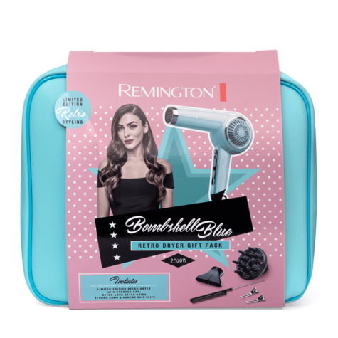 Remington Retro Look Hair Dryer Gift Set | Women's Styling Kit | 2000W | Ceramic Grille Thumbnail 4