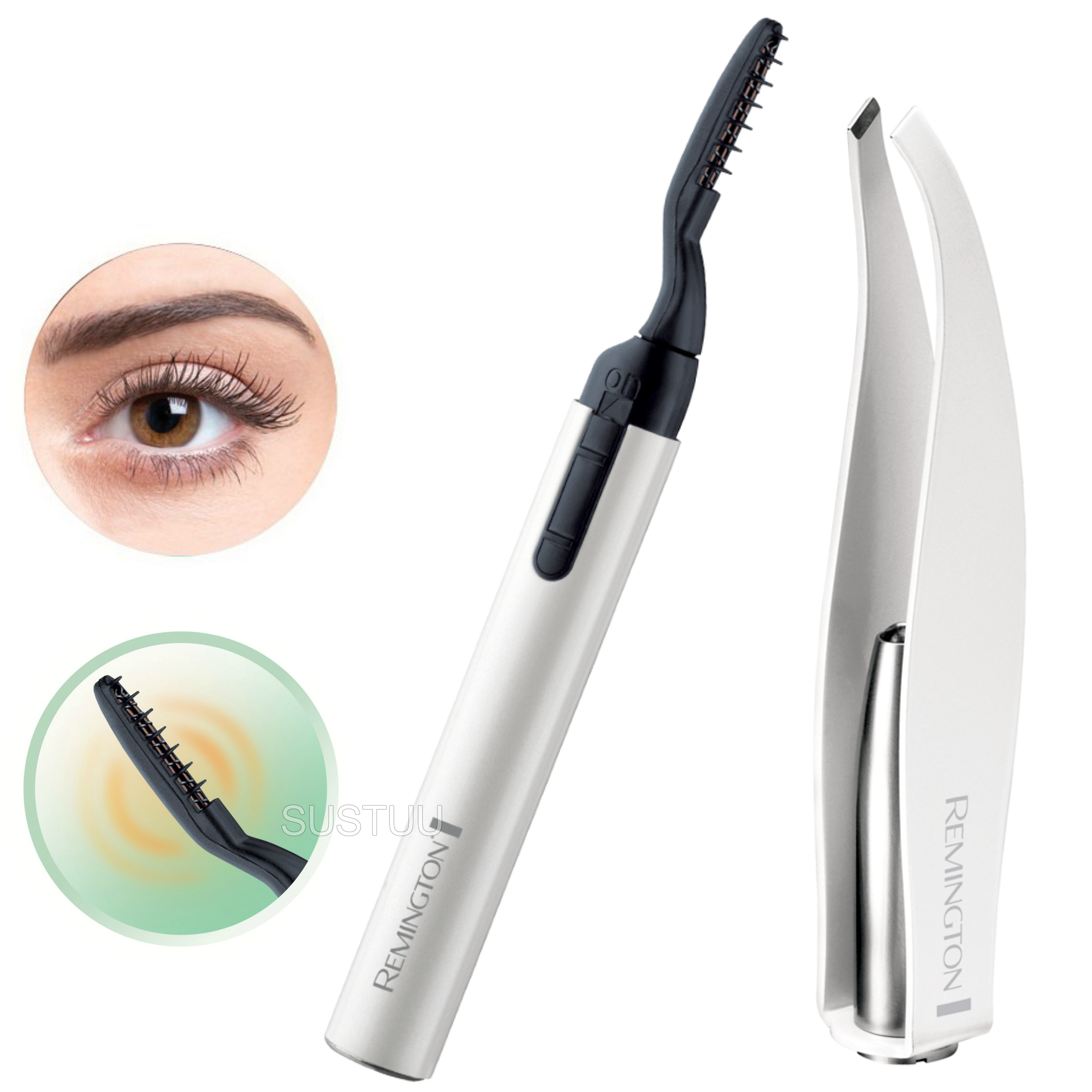 Remington Reveal Heated Eye Lash Curler | LED Precision Tweezers | Battery Operated
