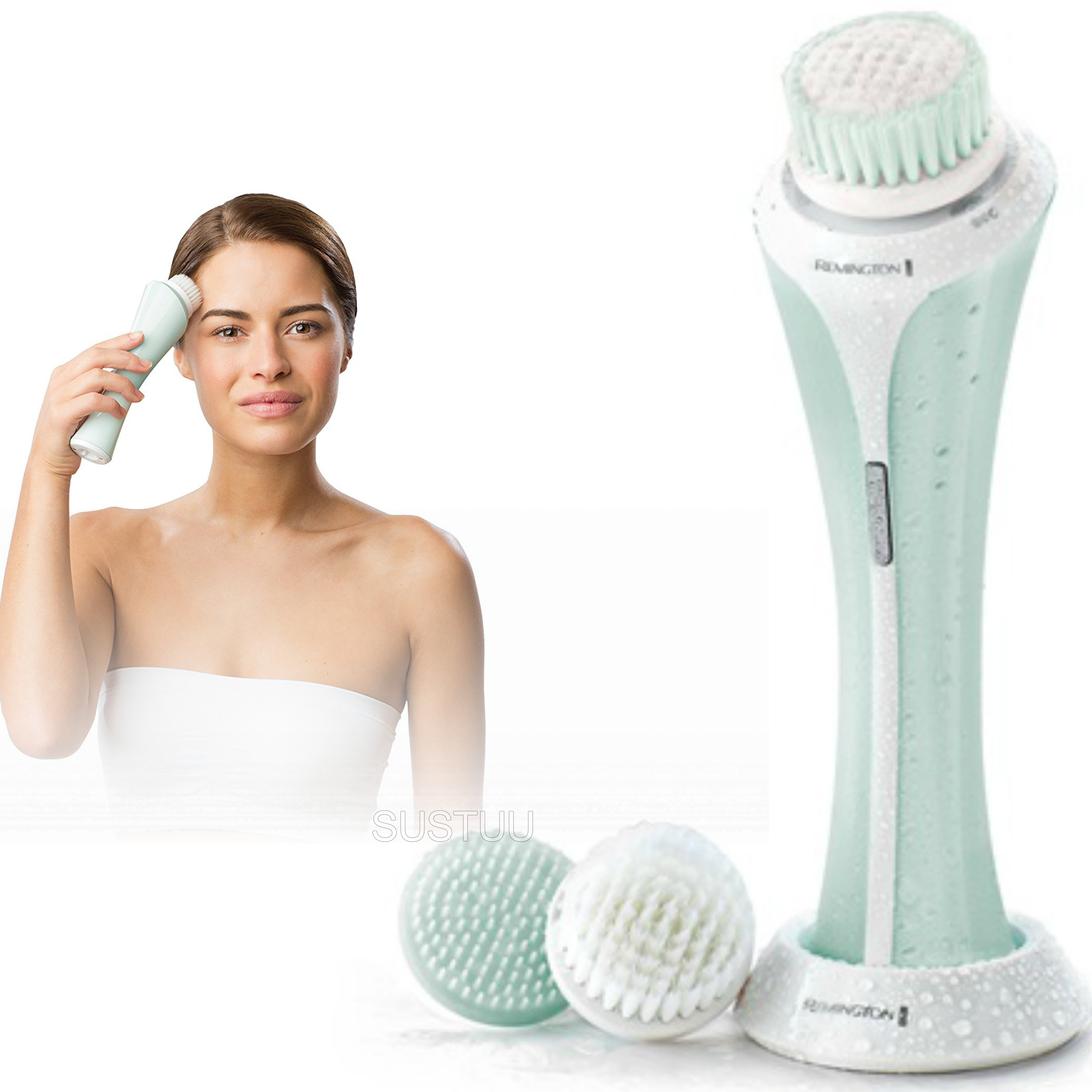 Remington Reveal Facial Cleansing Exfoliating Brush/Comb | 3x Brush Heads | Washable