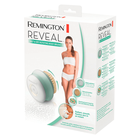 Remington Reveal Wet & Dry Rotating Body Brush | Bath Exfoliating Scrubs | Cordless Thumbnail 7