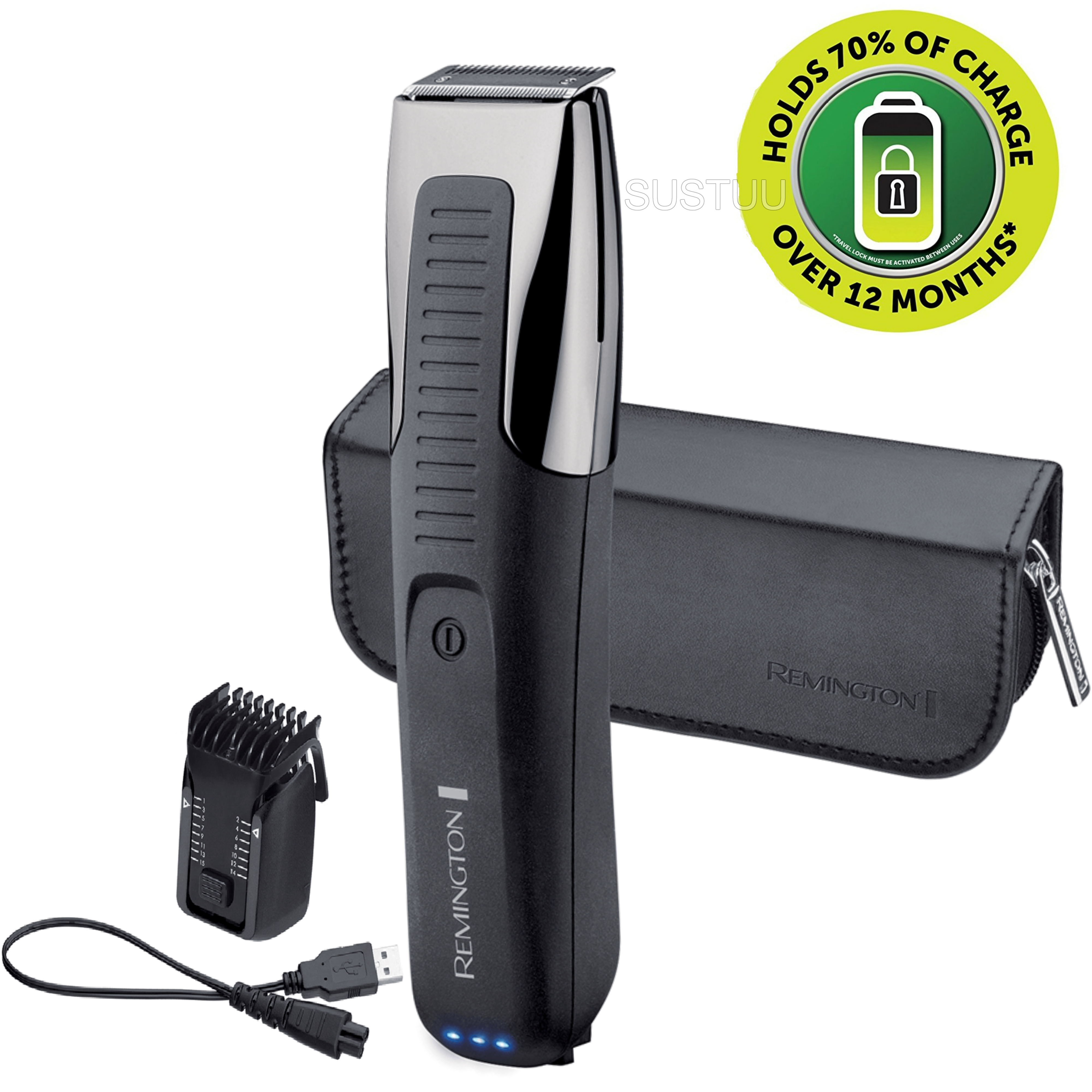 Remington Beard Trimmer | Rechargeable Electric Groomer | Endurance Technology | MB4200