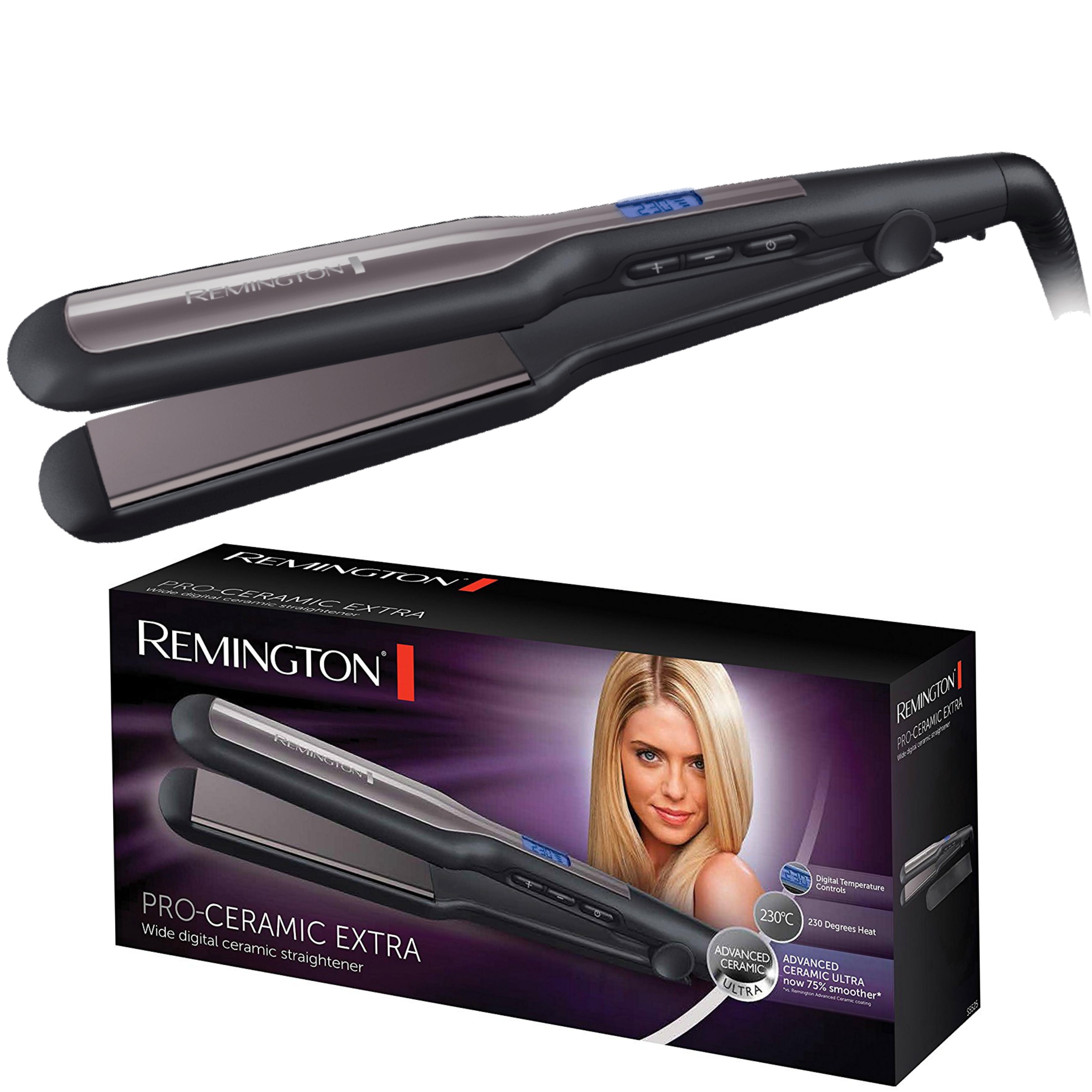 Remington Pro-Ceramic Hair Straightener | Extra Wide Plates | Digital Display | 230ºC