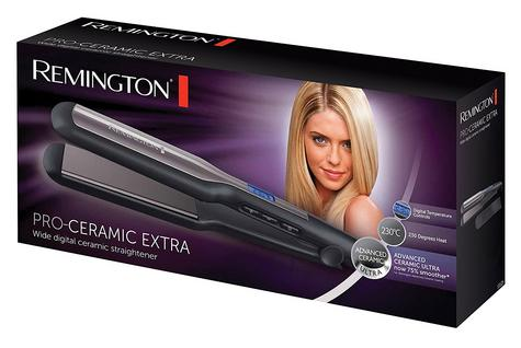 Remington Pro-Ceramic Hair Straightener | Extra Wide Plates | Digital Display | 230ºC Thumbnail 3